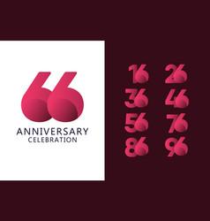 66 years anniversary celebration logo template vector