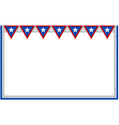 Abstract usa flag decorative banner frame vector