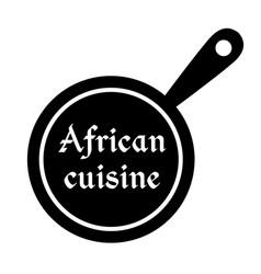 African cuisine stamp vector
