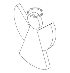 Angel icon isometric 3d vector