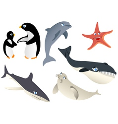 animal marine life vector image