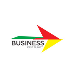 arrow up business logo designs vector image