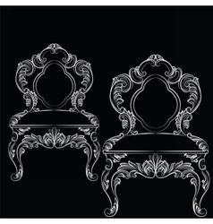 Baroque luxury style chair vector