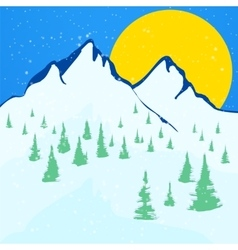 Beautiful winter landscape background vector image