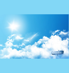 blue sky nature background with white vector image