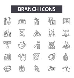 branch line icons for web and mobile design vector image
