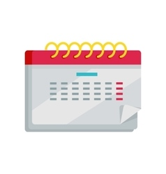 Calendar App Icon in Flat Design Web Organizer vector image