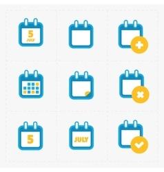 Calendar Icons on white vector