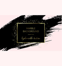 card template black brush stroke and gold dust vector image