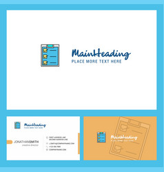 checklist logo design with tagline front and vector image