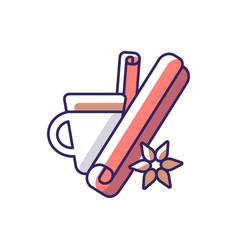 Cinnamon rgb color icon vector