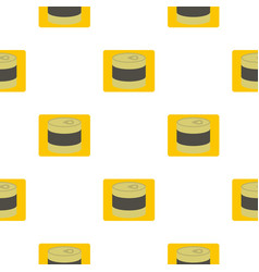 Closed tin can pattern flat vector