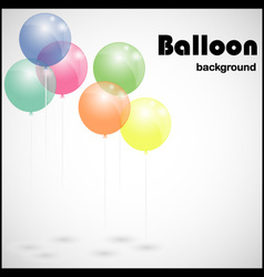 Colorful background with balloons vector image vector image