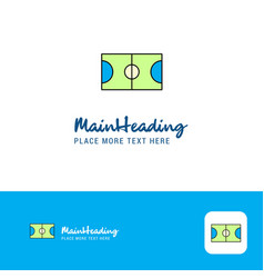 creative football ground logo design flat color vector image