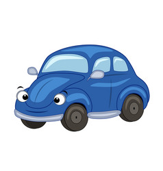 cute cartoon blue car vector image