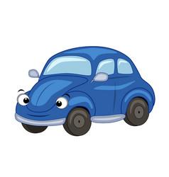 cute cartoon blue car vector image