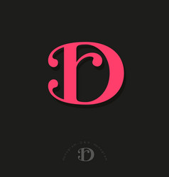 D r monogram combined letters beautiful classic vector