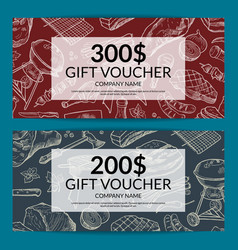 discount for butchers shop vector image