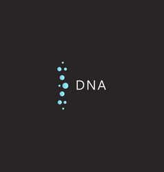 dna logo template medical innovation technology vector image