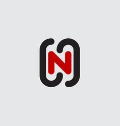 dynamic logo with letter n design element vector image