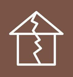 Earthquake hitting house vector