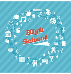 Education high school icons vector