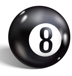 Eight ball billiards realistic 8 ball isolated on vector