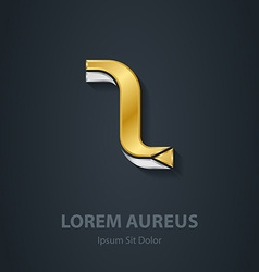 elegant gold and silver font Letter Z Template for vector image