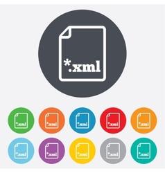 File document icon Download XML button vector image