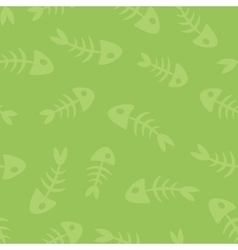 fish bones seamless pattern vector image