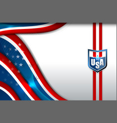 Flag of usa background vector