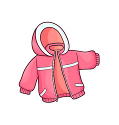flat baby kid jacket vector image