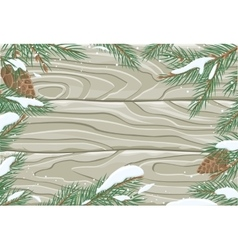 Frame with Pine Tree Brunches and Cones vector
