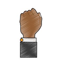 hand person cartoon scribble vector image