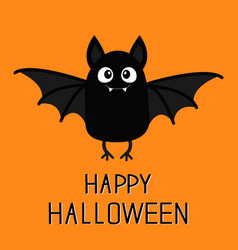 happy halloween bat vampire cute cartoon baby vector image