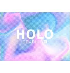 holographic hipster card in pastel colors vector image