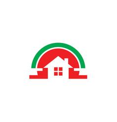 home real estate business logo vector image