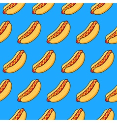 hot dogs on blue background vector image