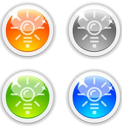 Idea buttons vector image