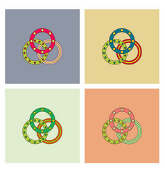 Juggling rings collection vector