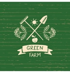 logo green farm Sketch for logo vector image vector image