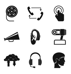 Loud sound icons set simple style vector