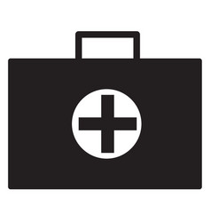 Medical case icon vector