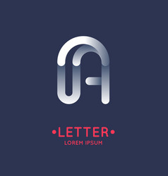 modern linear logo and sign the letter a vector image vector image