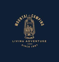 Mountain camp vector