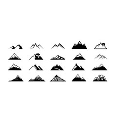 mountain peak silhouettes black hills top rocks vector image