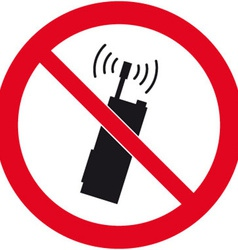 No Mobile Phones Safety Sign vector image vector image