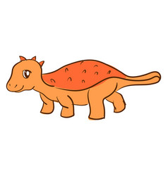 orange dinosaur on white background vector image