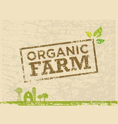 organic farm fresh healthy food eco green vector image