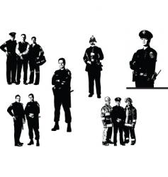 policemen vector image